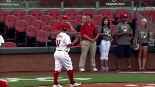 J.R. Todd Cincinnati Reds First Pitch