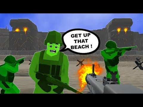 Green Army Men In Ravenfield Storm OMAHA Beach ! D - Day MOD