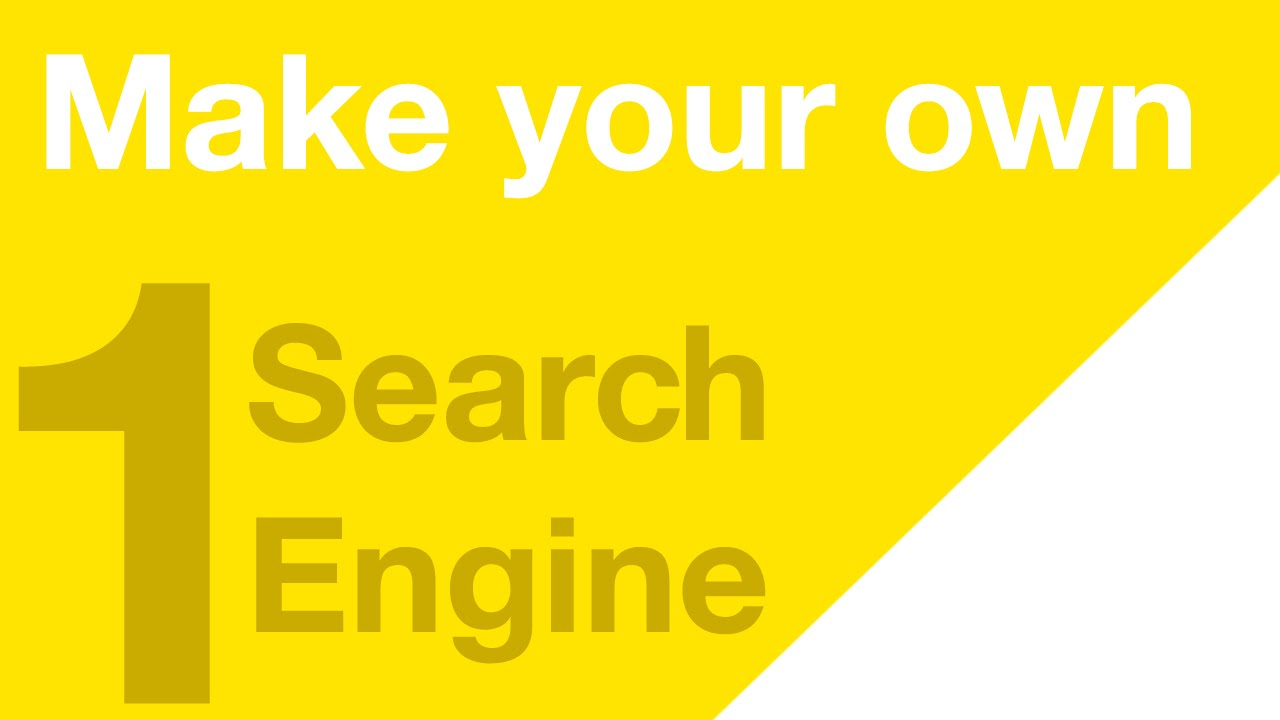 How to Build Your Own Search Engine