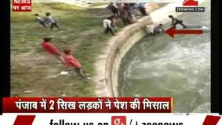 Punjab: 2 Sikh men remove turbans to save 8 youths from drowning