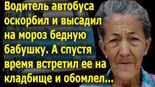 Бедную бабушку оскорбили и выгнали из автобуса. А потом водитель встретил ее на кладбище и обомлел.