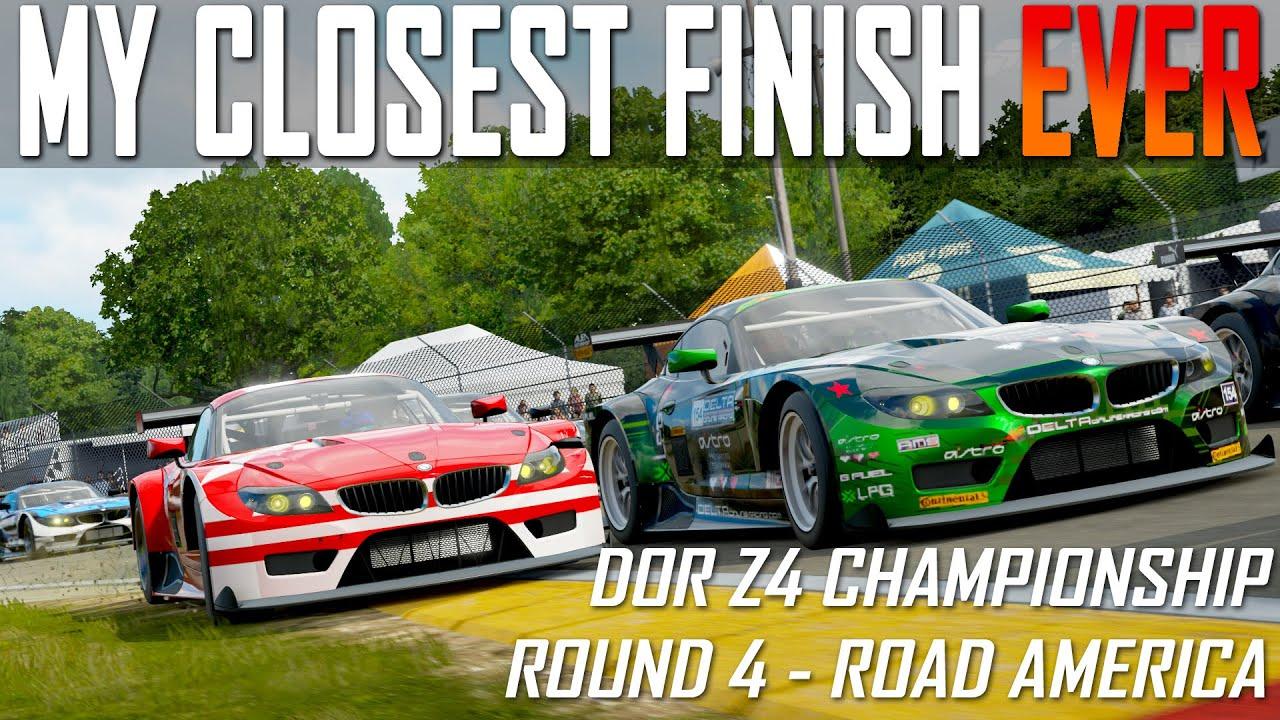 DOR Z4 Championship - Road America - My Closest Finish - Forza 7 - Delta Online Racing - JSR John