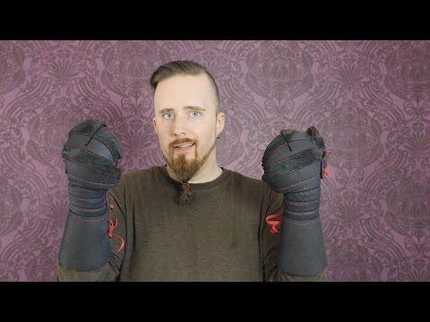Gloves / gauntlets for HEMA sword sparring (check the video description)