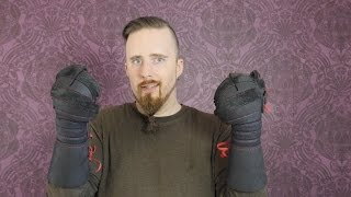 Gloves / gauntlets for HEMA sword sparring (check the video description)