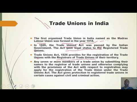 1 10 Labour Commissions and Trade Unions in India