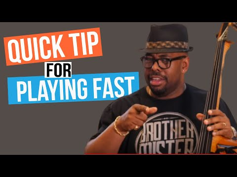Quick Tip For Playing Fast - Christian McBride | 2 Minute Jazz