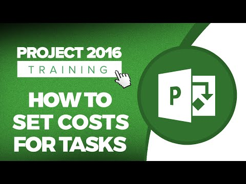 How to Set Costs for Tasks in Microsoft Project 2016