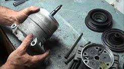 A/C compressor disassembly 2001 Chevy Blazer 4.3 liter Vortec Delphi