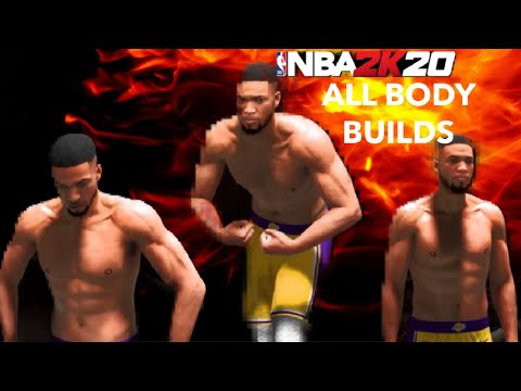 ALL BODY SHAPES IN NBA 2K20 THE BEST BODY SHAPES TO CHOOSE!