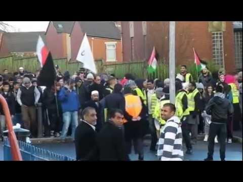 STOP ISRAELI TERROR! - Demonstration For Gaza 2012 - March To Corporation Park, Blackburn, UK