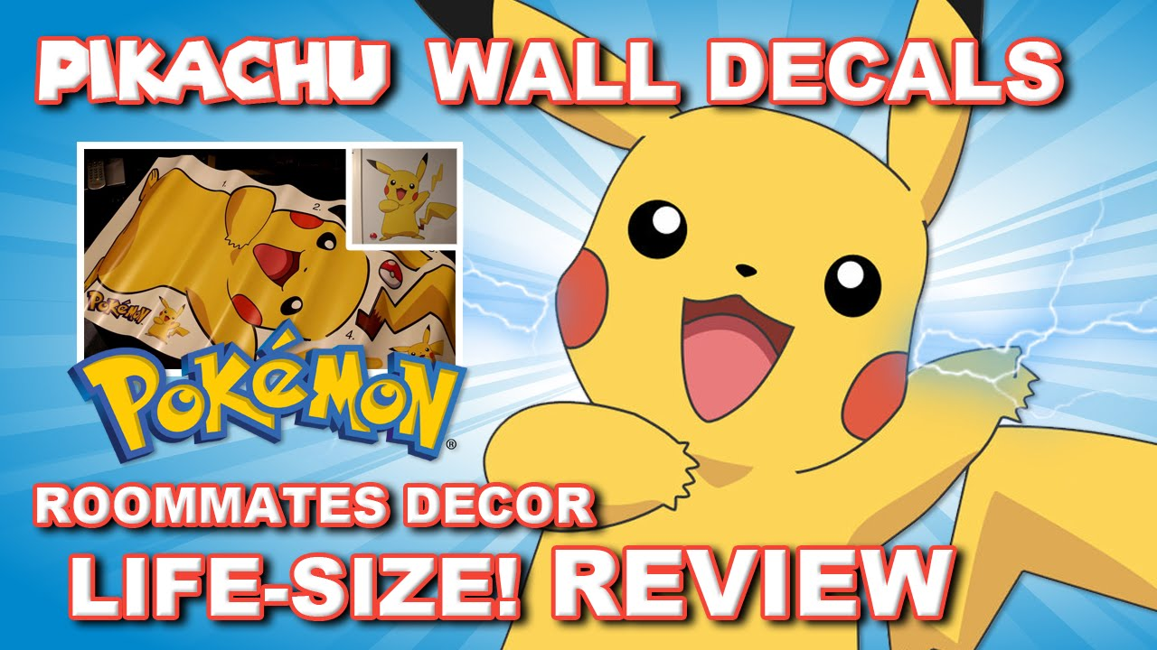 Real Life Giant PIKACHU Wall Decal \