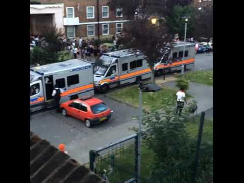 Stamford Hill Rave Sees Missiles Thrown At Retreating Police