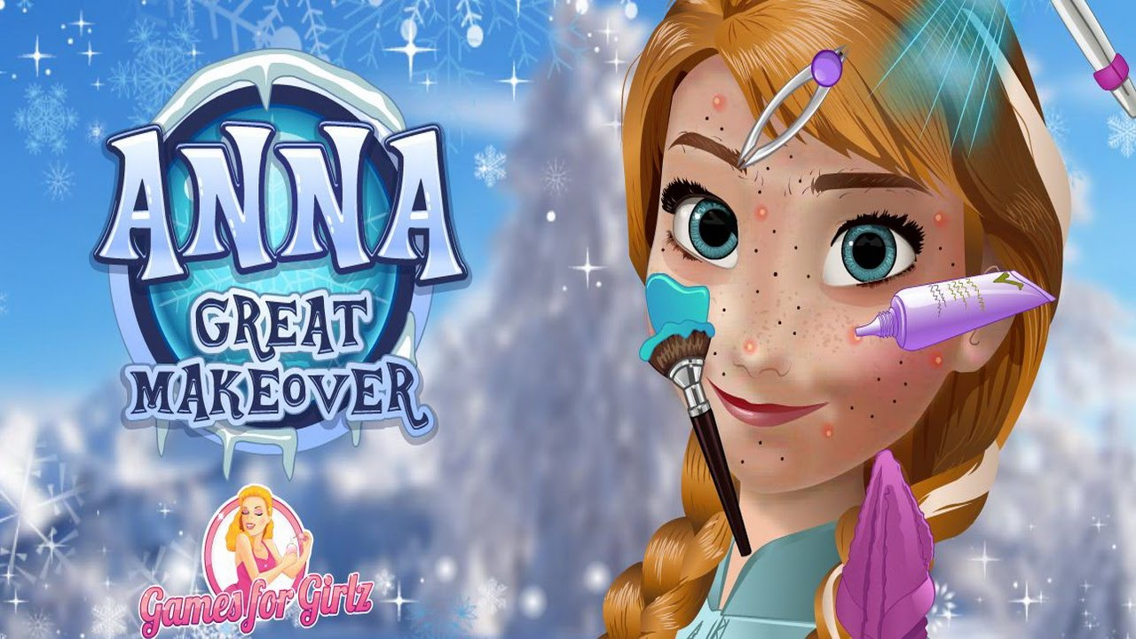Anna Great Makeover Video Play-Frozen Games for Girls ...