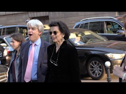 Bianca Jagger at Christian Dior 70th anniversary exhibit party in Paris
