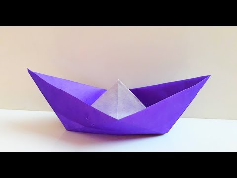 How To Make An Easy Origami Boat That Floats Simple Paper Boat