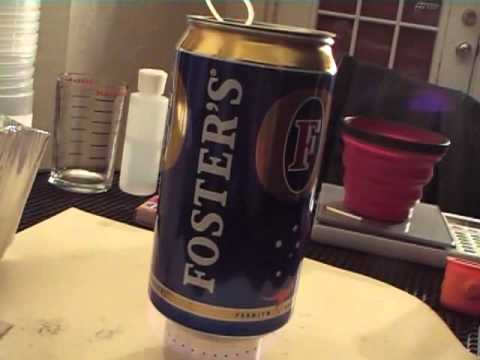 Ultralight Cooking System:  Fosters Beer Can Pot/ Alcohol Stove