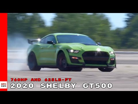 2020 Ford Mustang Shelby GT500 Official 760 HP and 625 LB-FT