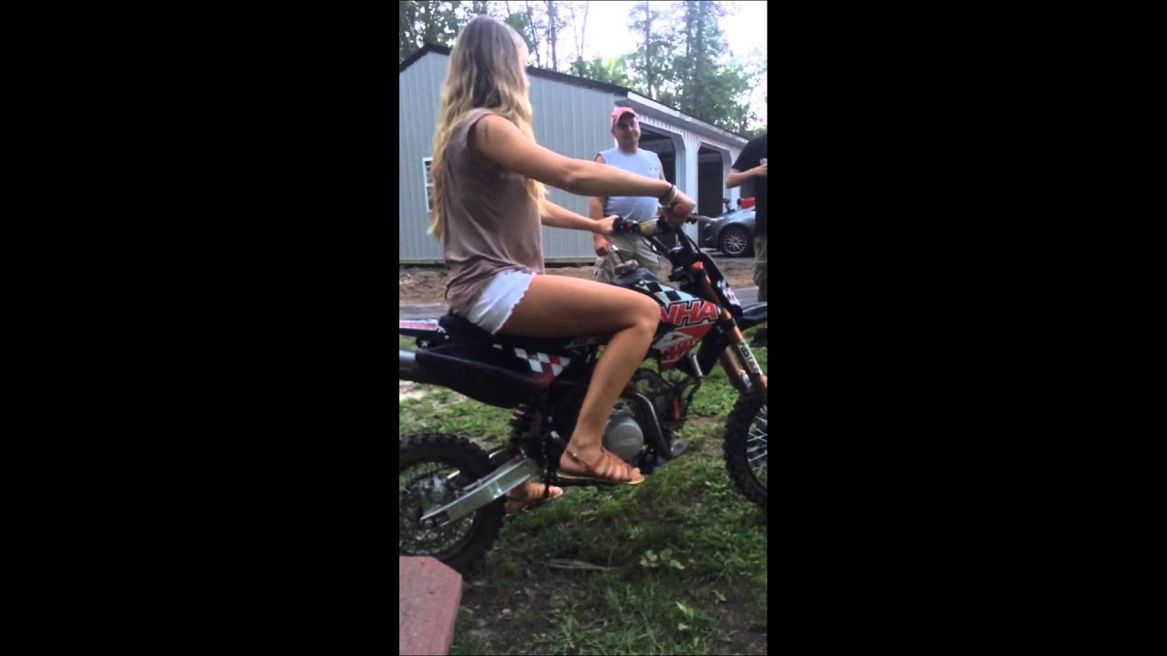Motocross Girl Wallpaper White Girl Dirt Bike Fail Youtube