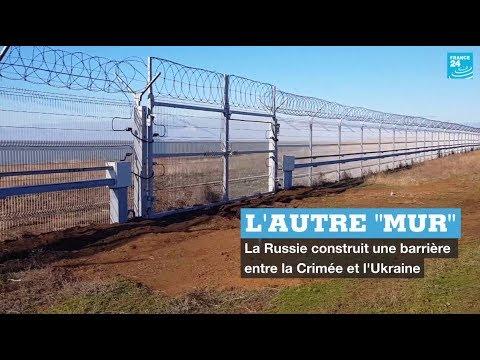 """La Russie met un """"mur"""" entre la Crimée et l'Ukraine"""