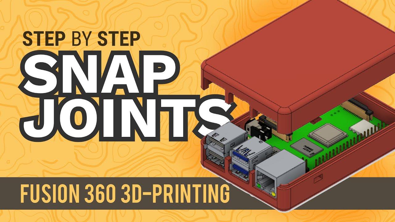 Fusion 360 Snap Fit Cases | 3D-Printable Raspberry Pi Case
