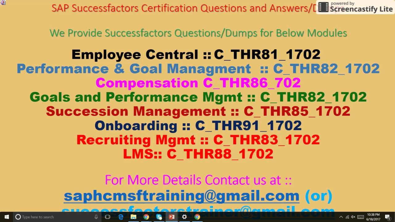 Sap successfactors system access training and certification sap successfactors system access training and certification material xflitez Image collections