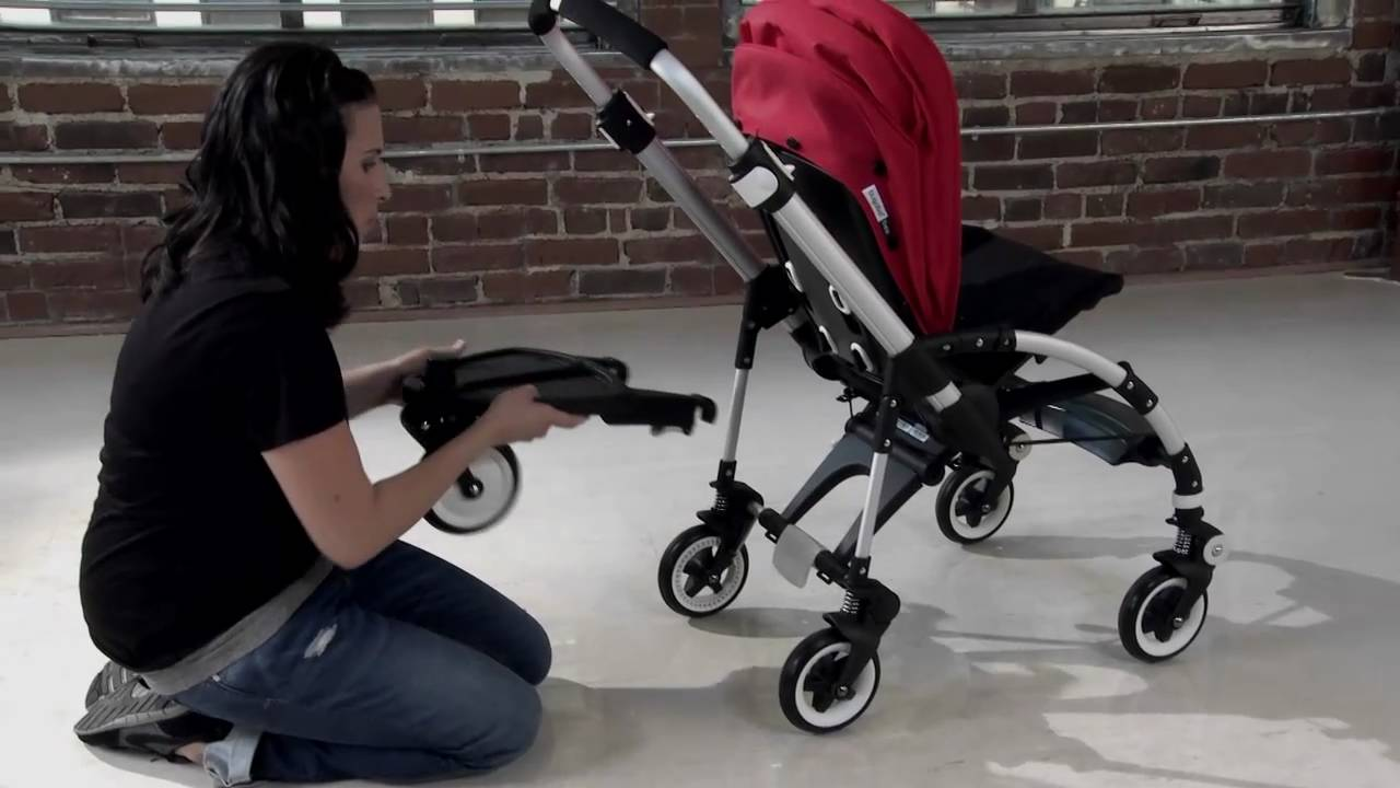 Bugaboo Bee With Buggy Board Bugaboo Bee Demo Stroll With Two Wheeled Board