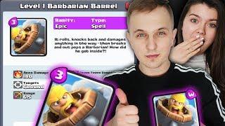 BARBARIAN BARREL - Wygląd NOWEJ KARTY ! | Clash Royale