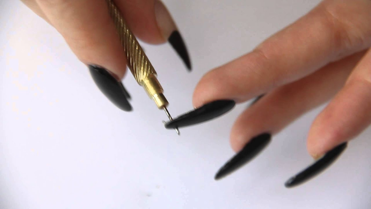 Floss Gloss Nail Piercing Tutorial - YouTube