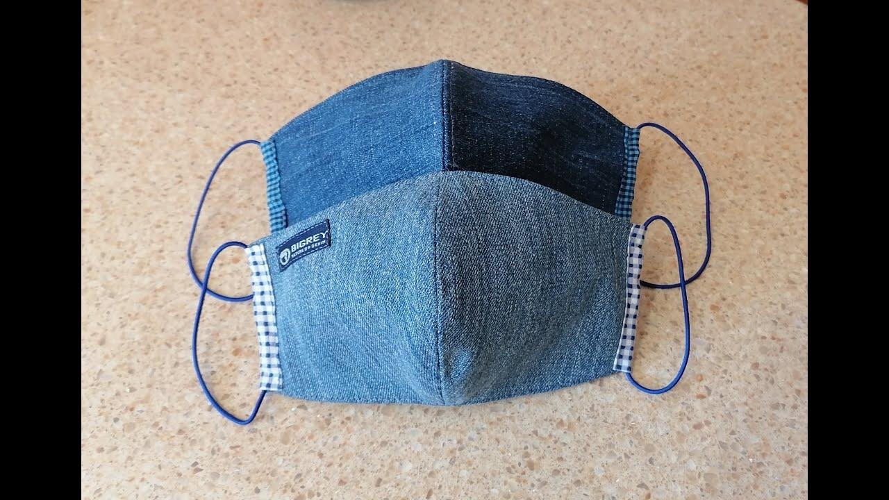Как сшить многоразовую медицинскую маску из джинсовой ...