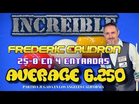 Frederic Caudron 25 a 0 a Jun Ho kim  en 4 entradas Average 6.250