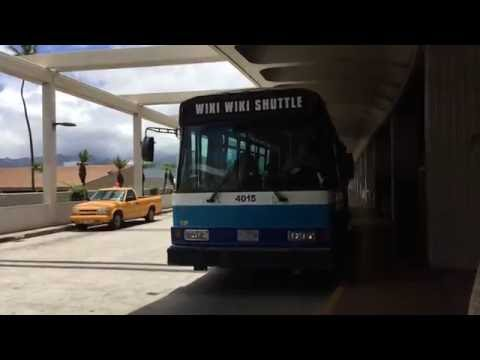 Wiki Wiki Shuttle Honolulu International Airport Oahu Hawaii (Slow Motion)