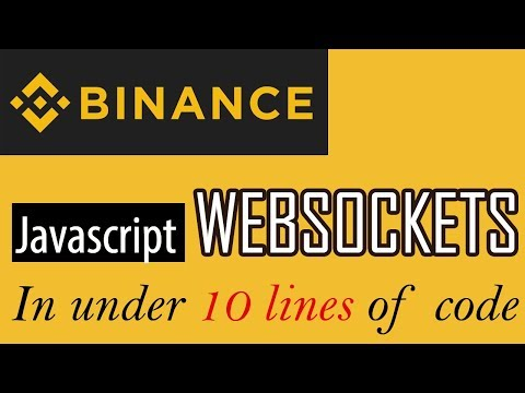 How to use Websockets Stream for Binance Exchange in less than 10 lines of  code
