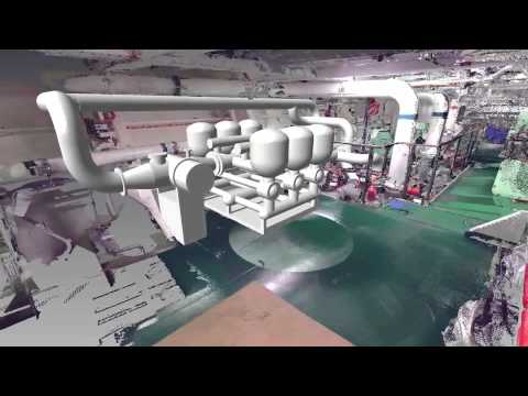 3D Laser Scan and multi-system modeling for a Car Carrier undergoing BWT retrofit planning - Goltens