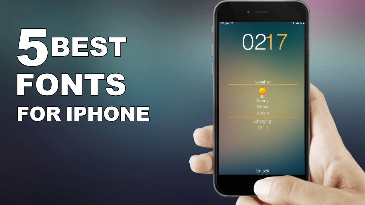 Top 5 Best Ios 10 10 2 Cydia Fonts For Iphone 7 7plus 6 6 Plus 5s Ipod Touch 6g Youtube