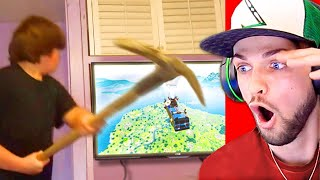 Reacting to the CRAZIEST Fortnite RAGES! (Ultimate Compilation)