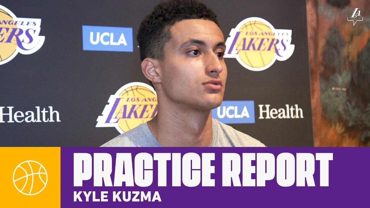 Kyle Kuzma discusses practices so far and life in the bubble | Lakers Practice