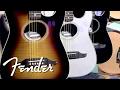 Fender Acoustics Focus on USA Models   Fender
