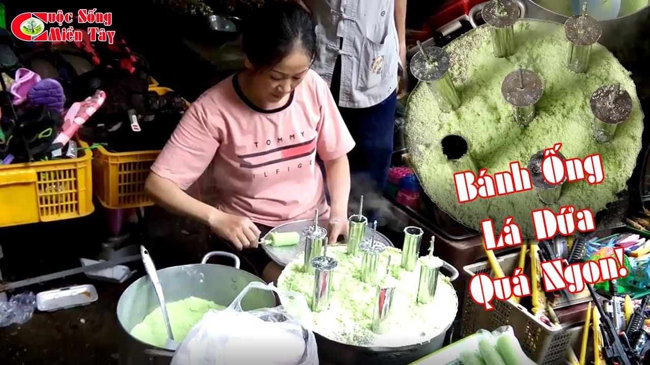 Tròn mắt xem thợ làm bánh ống lá dứa bên trong Thạch Động Hà Tiên | CSMT