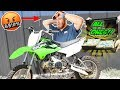 I Bought A Dirtbike Using All Dollar Bills (His Reaction though)