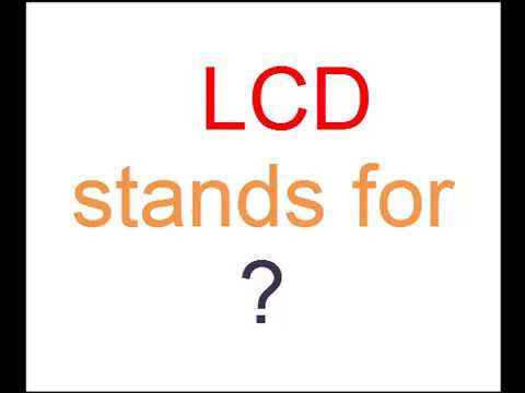 What is full form of LCD ? - YouTube