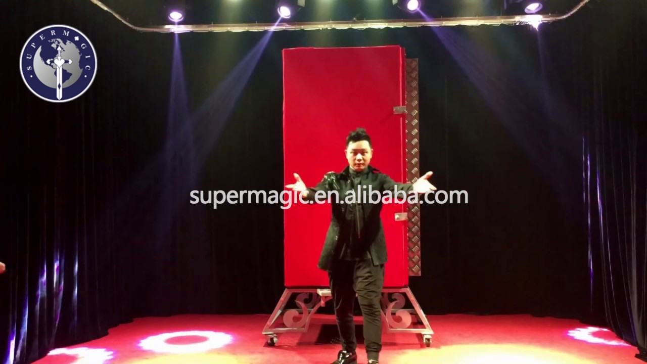 Magic illusion B012 Stage shook the luxurious big size through the steel plate magic props.