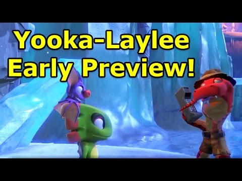 Yooka-Laylee Glitter Glacier Early Preview