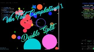 DUAL AGAR,Alis.io  BEST WINS/FAIL #1 / POPSPLITS , DOUBLESPLITS (Agar)