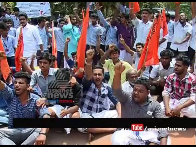 ABVP Protest gone wild in mala mets engineering college