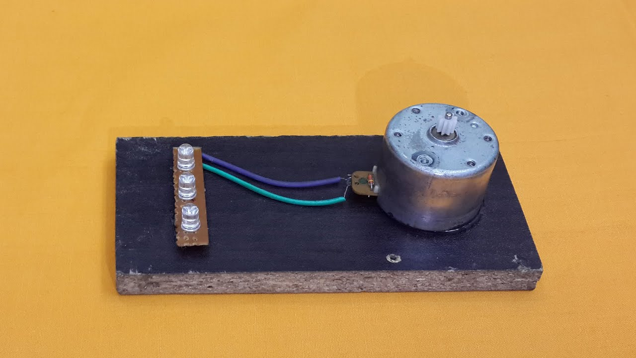 turn a dc motor into a simple electric generator youtube