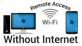 How to access remote desktop via wifi using android mobile or android tv without internet