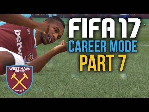 FIFA 17 Career Mode Gameplay Walkthrough Part 7 - SEEING RED (West Ham)