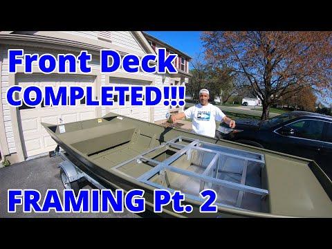 Jon Boat Front Deck ALUMINUM FRAMING Part 2 {Jon Boat To Bass Boat Conversion} Lowe 1448 Jon Boat