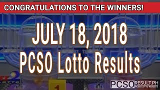 PCSO Lotto Results Today July 18, 2018 (6/55, 6/45, 4D, Swertres, STL & EZ2)