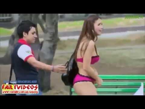Una dama sexy en el parque..... jejeje muy bueno !!!